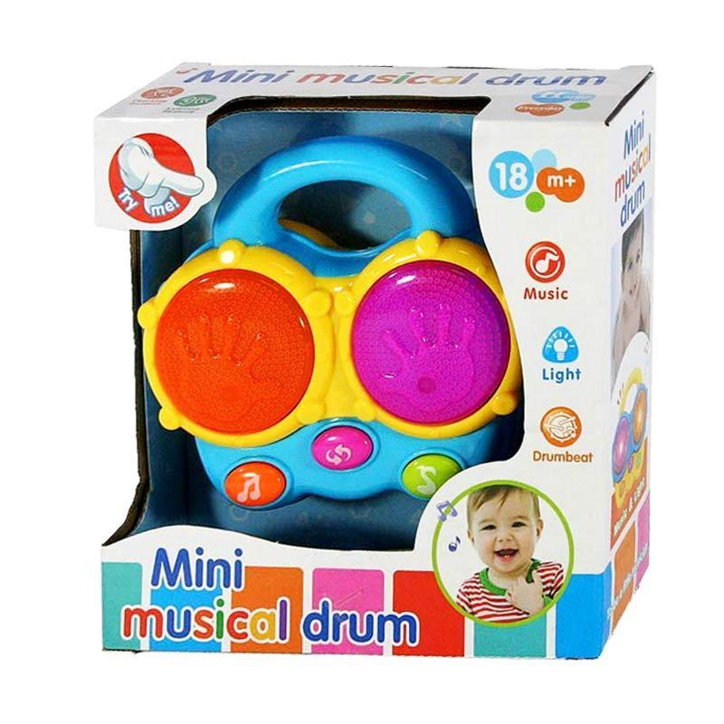 harga Otoys EV-65078 Mini Musical Drum Mainan Anak - Biru Blibli.com