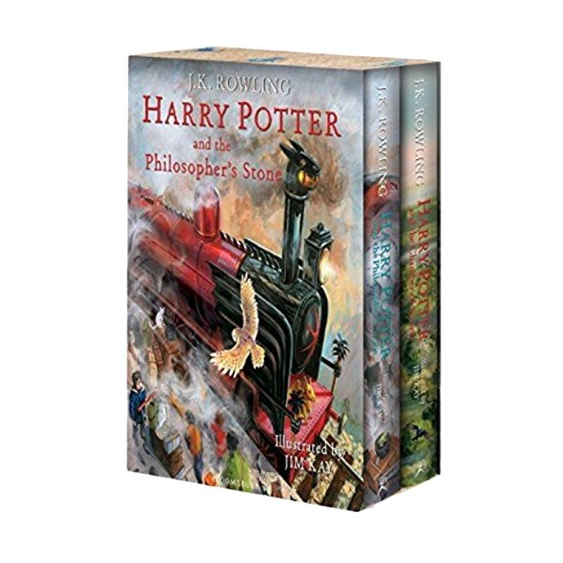 Harry Potter Illustrated Box Set Hardcover by J.K. Rowling Buku Novel