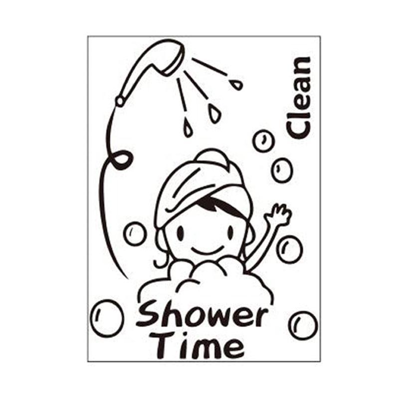 Epinidithouse Quotes Shower Time Dekorasi Dinding Toilet Kamar Mandi