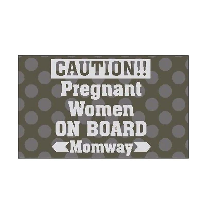 Stiker Mobil Pregnant Women On Board Momway Cutting Sticker Quotes Car