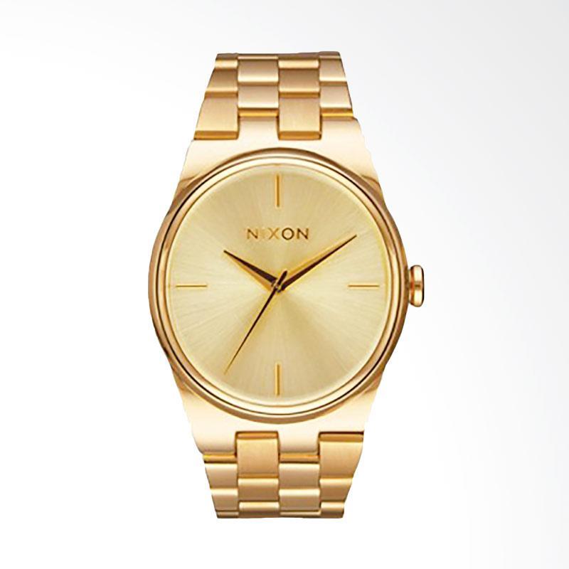 Nixon A953502 The Idol Gold Dial Stainlees Steel Jam Tangan Wanita