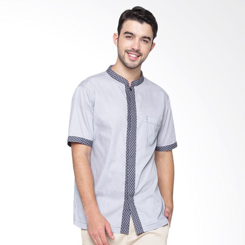 A&D Fashion Men Koko Short Sleeve Atasan Pria - Black MS 711B