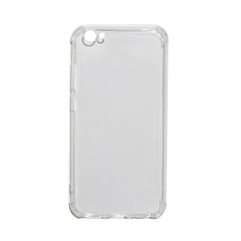 Softcase Anti Crack Shock Proof Silicone Softcase Casing for Vivo Y67 or V5 - Clear