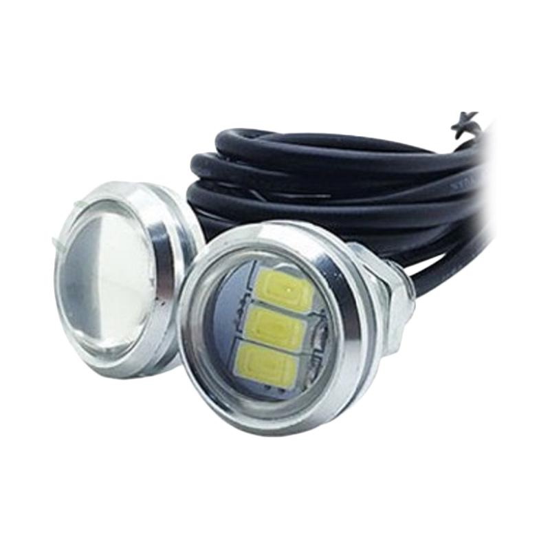 harga JMS Eagle Eye DRL White Housing 3 SMD 10W Lampu LED Mobil dan Motor - Pink [1 Pair/2 Pcs/23 mm] Blibli.com
