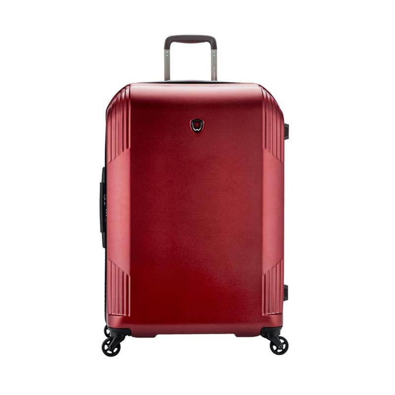 Traveler's Choice Riverside Hardcase Large Trolley Bag - Burgundy [31 Inch]