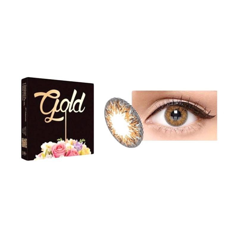 Ice Exoticon X2 Ice Gold Honey Softlens - Brown [Plano]