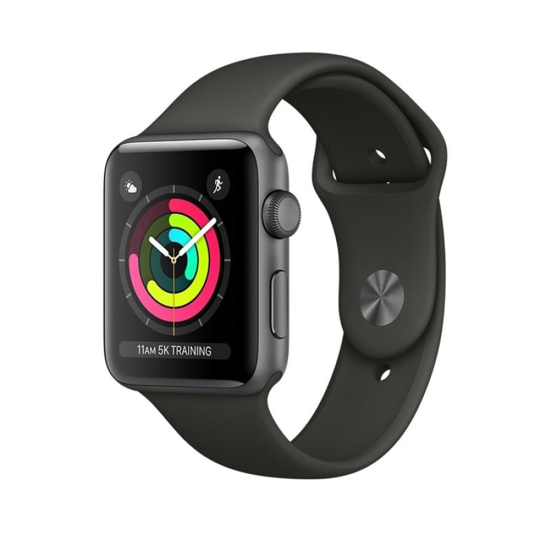 Apple Watch Series 3 GPS Space Grey Alum with Grey Sport Band Smart Watch [42mm]