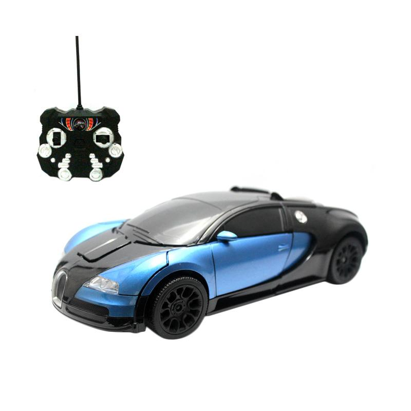Enandem RC Transformers Autobot Veyron Mainan Remote Control - Blue