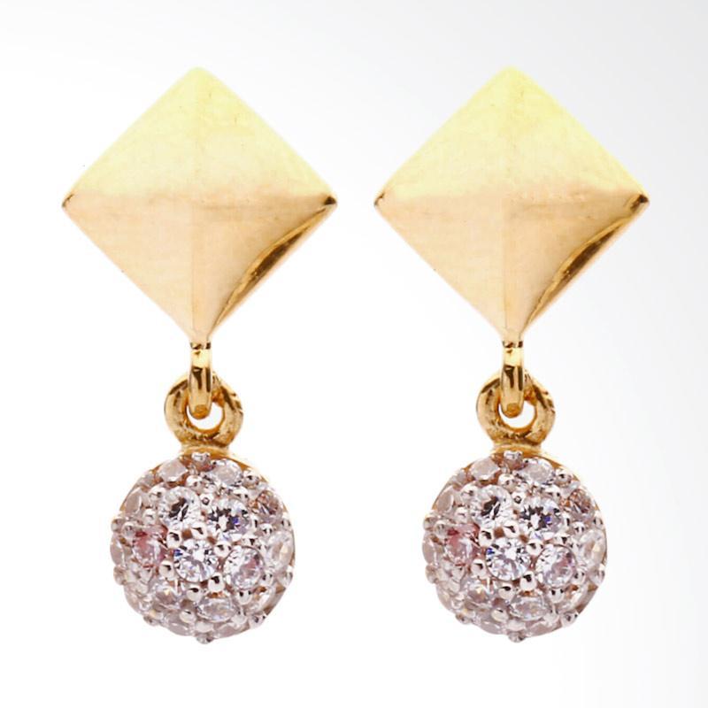 Scarlet Anting Emas Kadar 75 - Gold Earring-WHIZLIZ