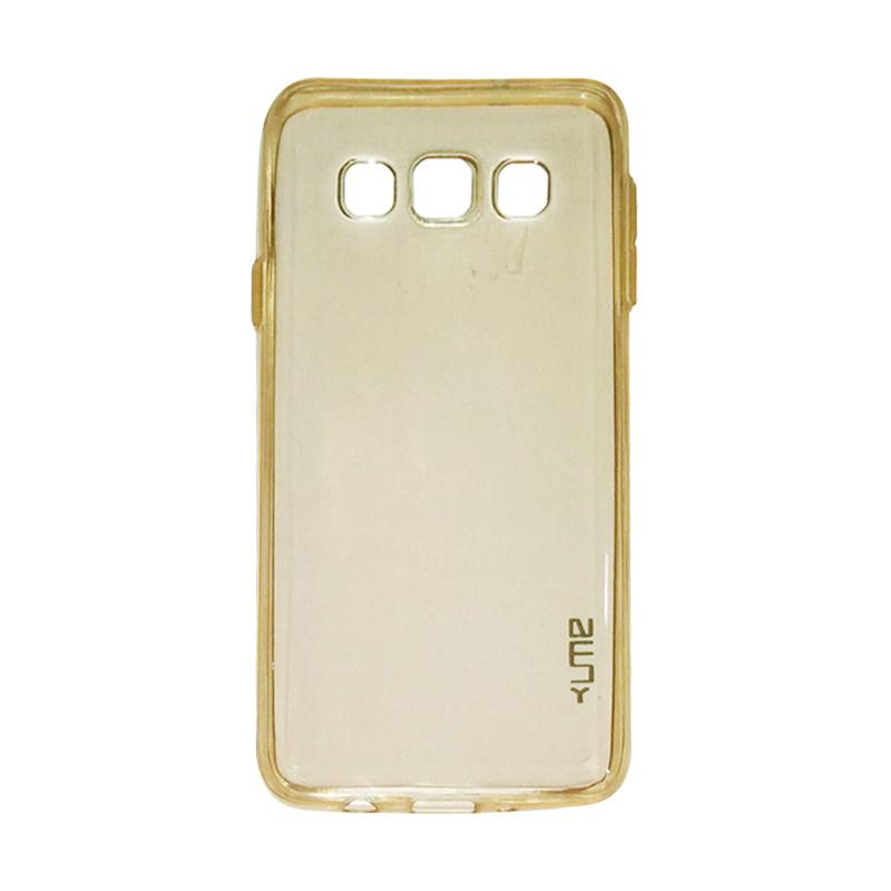 Ume Ultrathin Silicone Jelly Softcase Casing for Samsung Galaxy E7 E700 - Kuning