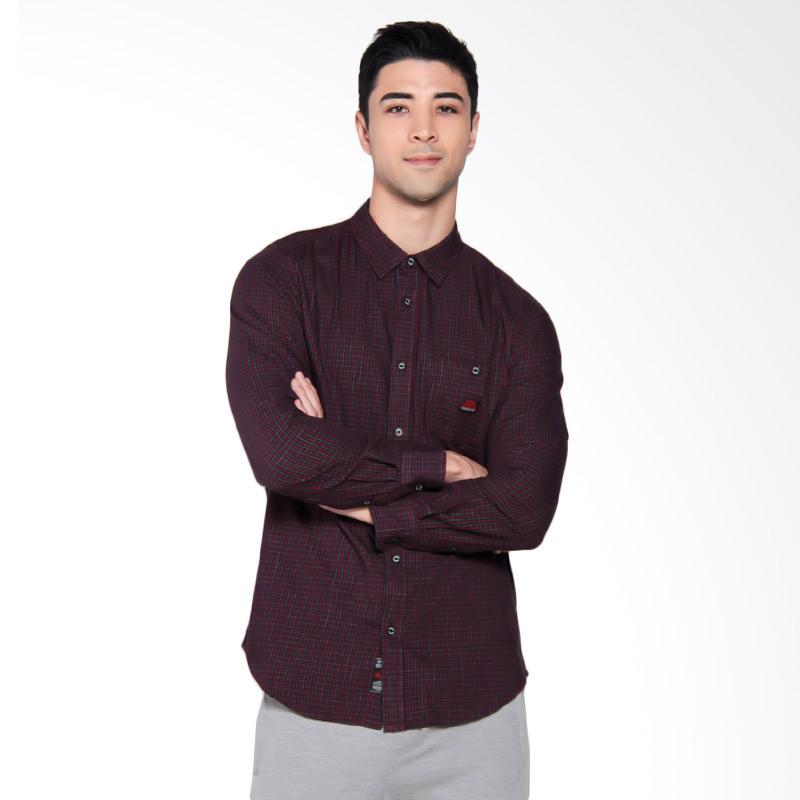 3SECOND Casual Shirt Kemeja Pria - Red [0210 102101711MR]