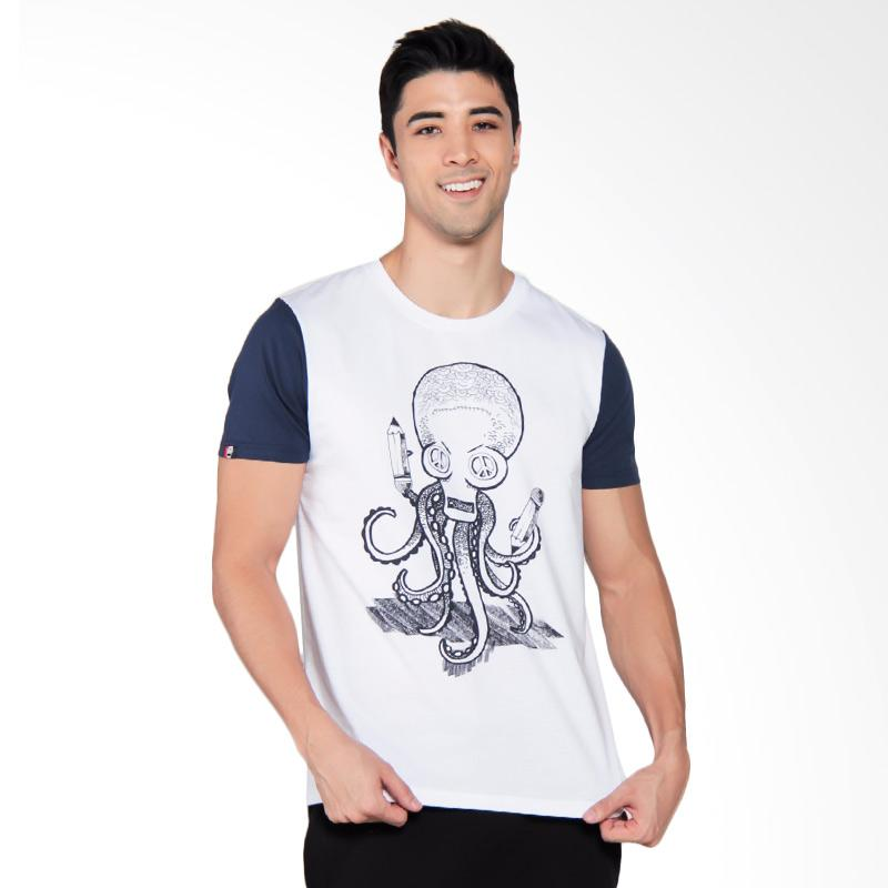 3SECOND Mens Tee T-Shirt Pria - Blue [9111 191111712BR]