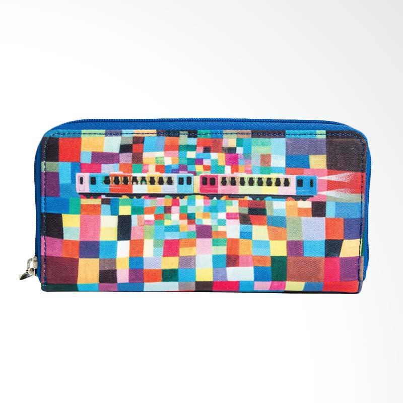 IPC Mansion Selected IFFI x JIMMY Mozaic Train Long Purse Dompet Wanita - Rainbow