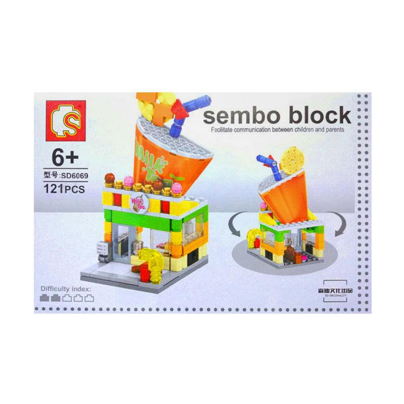 Sembo Block City Puzzle Milk Tea IKO00854 Mainan Blok dan Puzzle