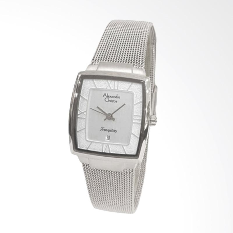 Alexandre Christie 8329 Jam Tangan Wanita - Silver White Lady