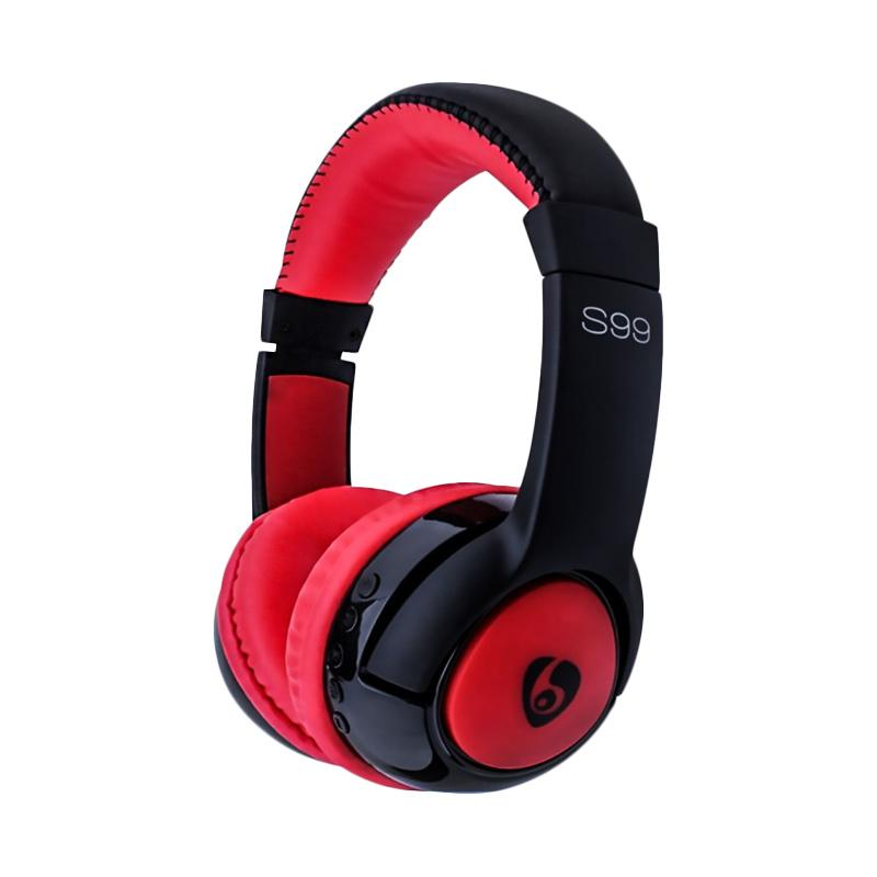 OVLENG S99 Original Wireless Bluetooth Music Headphones with Mic Noise Canceling - Merah