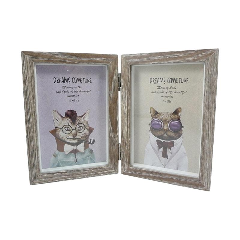 Hermosa Home Decor 65 2in1 Photo Frame - Brown Wash