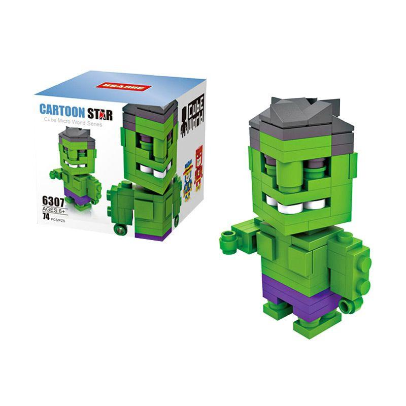HSANHE Cube 6307 Hulk Mainan Blok & Puzzle