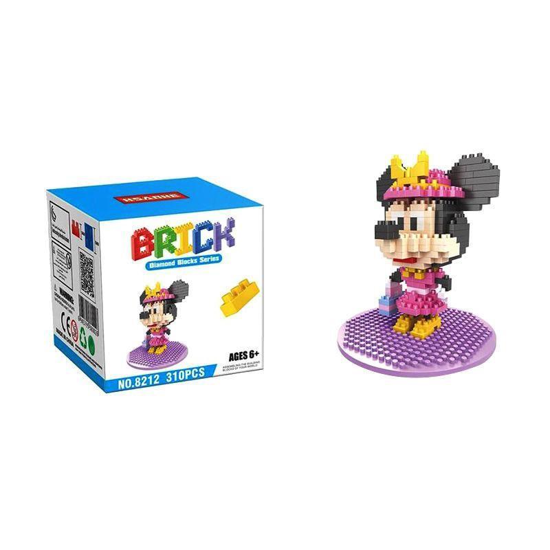 HSANHE 8212 Minnie Mainan Blok & Puzzle
