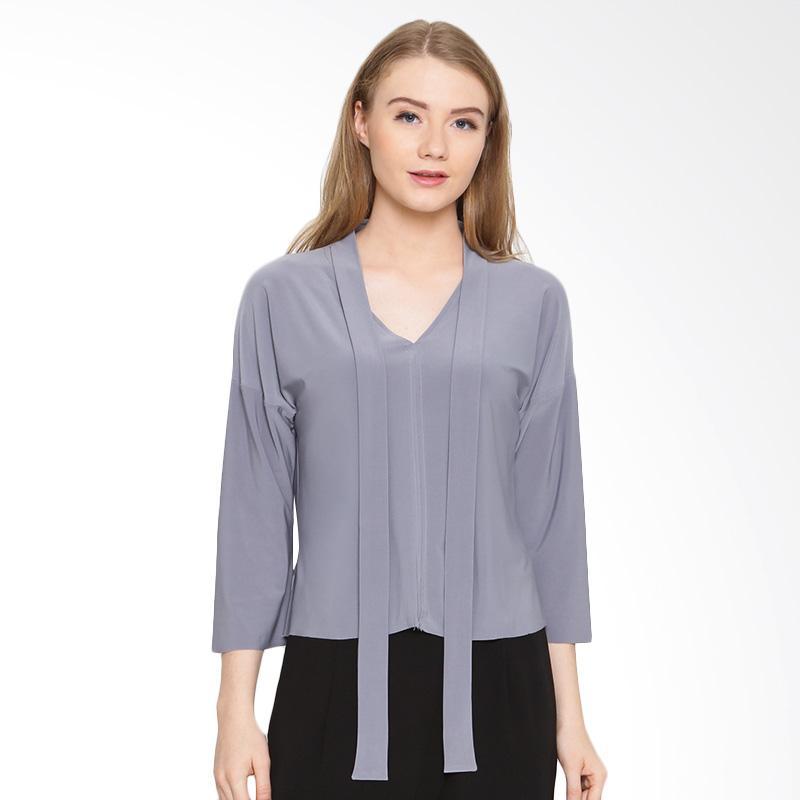 A&D Fashion Ms 976 Blouse Atasan Wanita - Grey