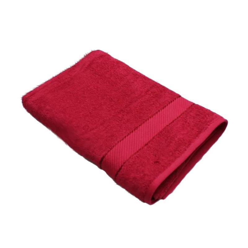 Chalmer Handuk Mandi Polos - Merah [70 x 140 cm]
