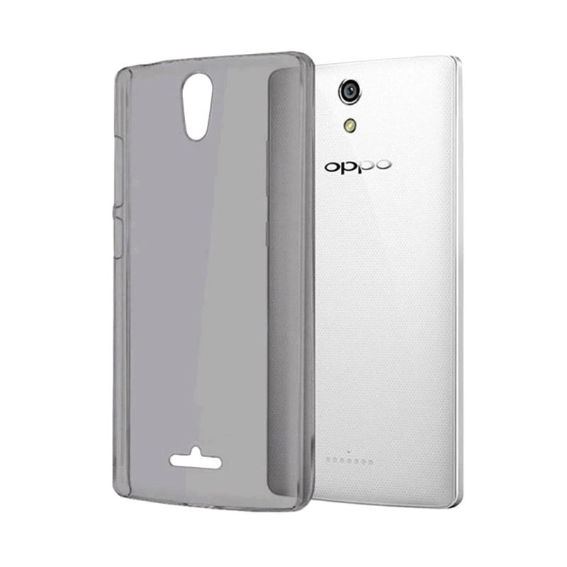 Ume Ultrathin Silikon Jelly Softcase Casing for OPPO Mirror 3 R3007 - Black