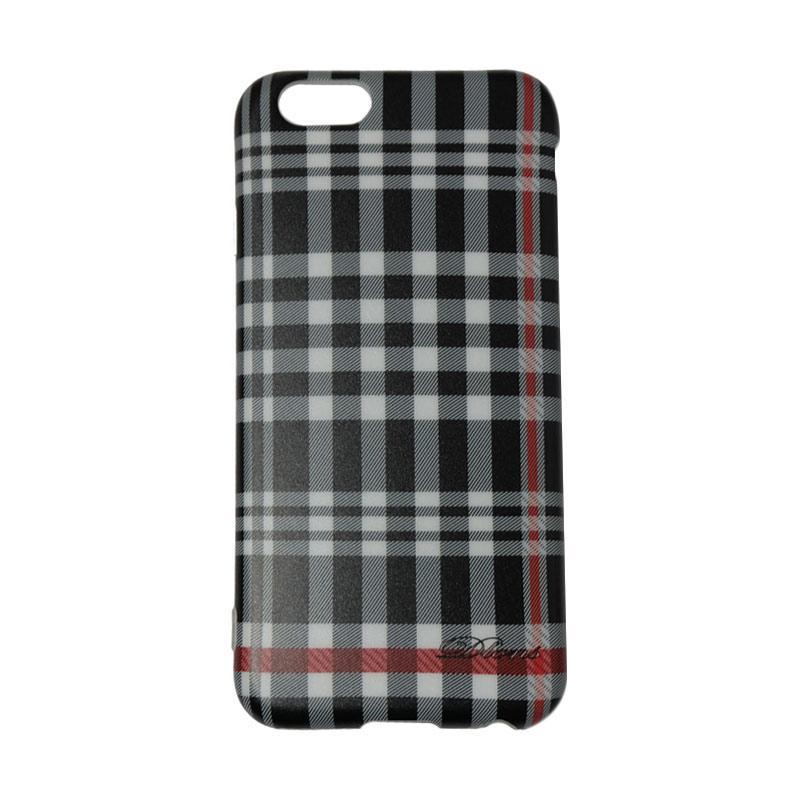 QCF Softacse Square Line British Style Casing Motif Kotak-Kotak for Apple iPhone 6 / iPhone 6G / iPhone 6S Ukuran 4.7 Inch
