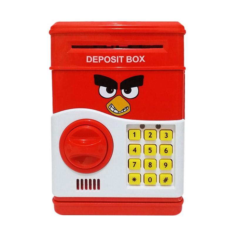 Golden Shop Celengan Brangkas Mini Safe Bank - Merah