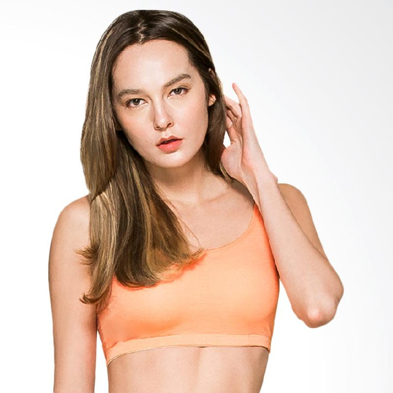 Clany Wireless Cooling Sport Bra with Bamboo Fabric - Orange