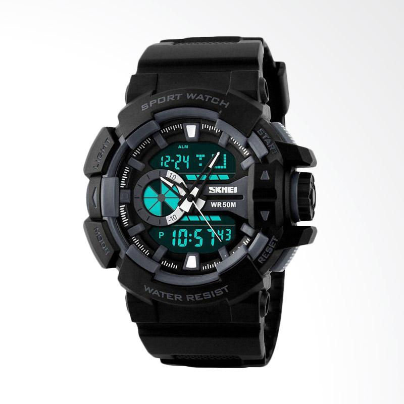 Skmei Sport Analog LED Casio Baby G-Shock Fortuner Original Jam Tangan Pria - Hitam [1117 AD1117]