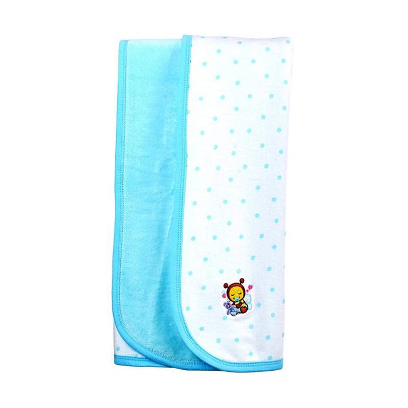 Babybee Dream Blanket - Polka Aqua Blue