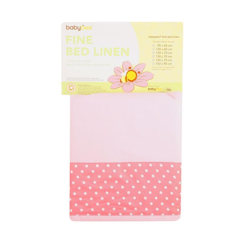 Babybee Polkadot Fine Bed Linen - Pink [120x60 cm]