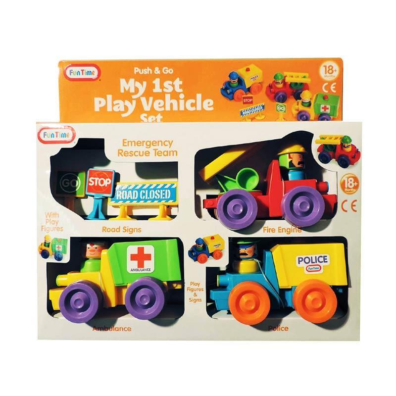 Funtime My 1st Play Vehicle Set Mainan Anak