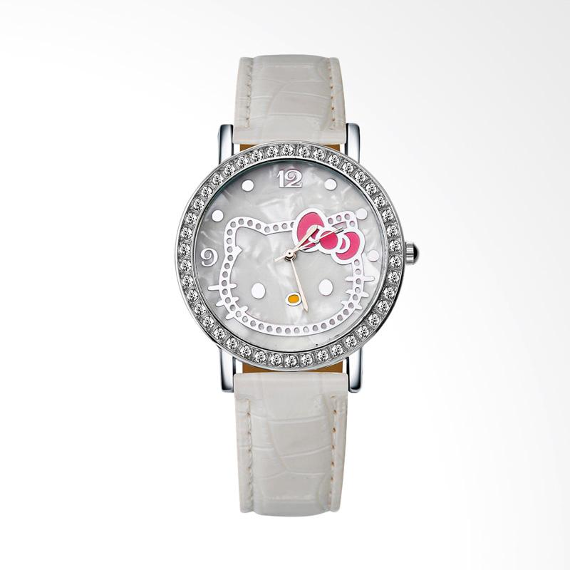 harga Hello Kitty WAT04174W Cartoon Luxury Diamond Leather Jam Tangan Wanita - White Blibli.com