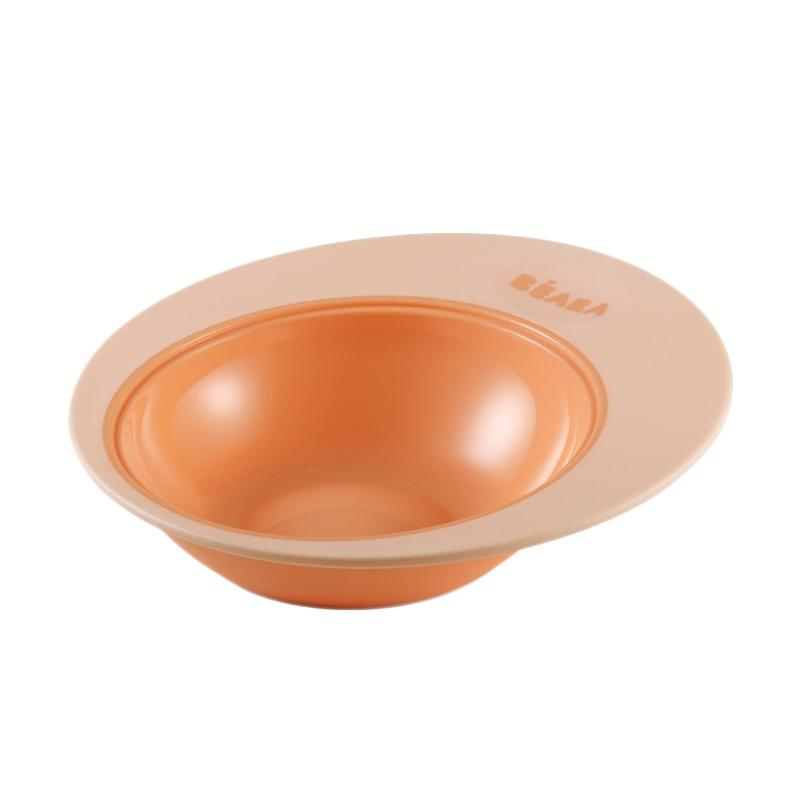 BabyCup Beaba Ellipse Training Plate - Nude