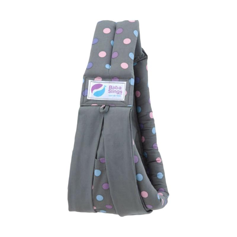 Baba Sling Other Colour Baby Carrier - Pink Dot Grey