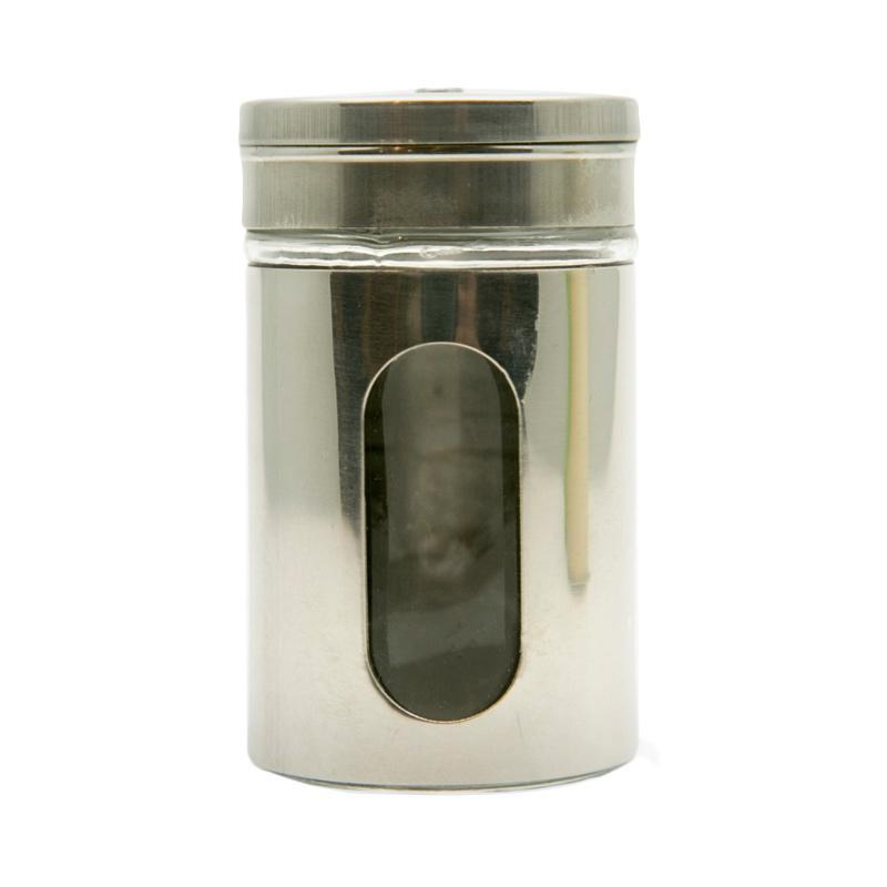 OEM Kaca Stainless Tempat Bumbu dan Tusuk Gigi - Perak