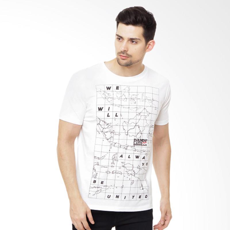 harga Damn I Love Indonesia Always Be Unity T-Shirt Pria - White Blibli.com