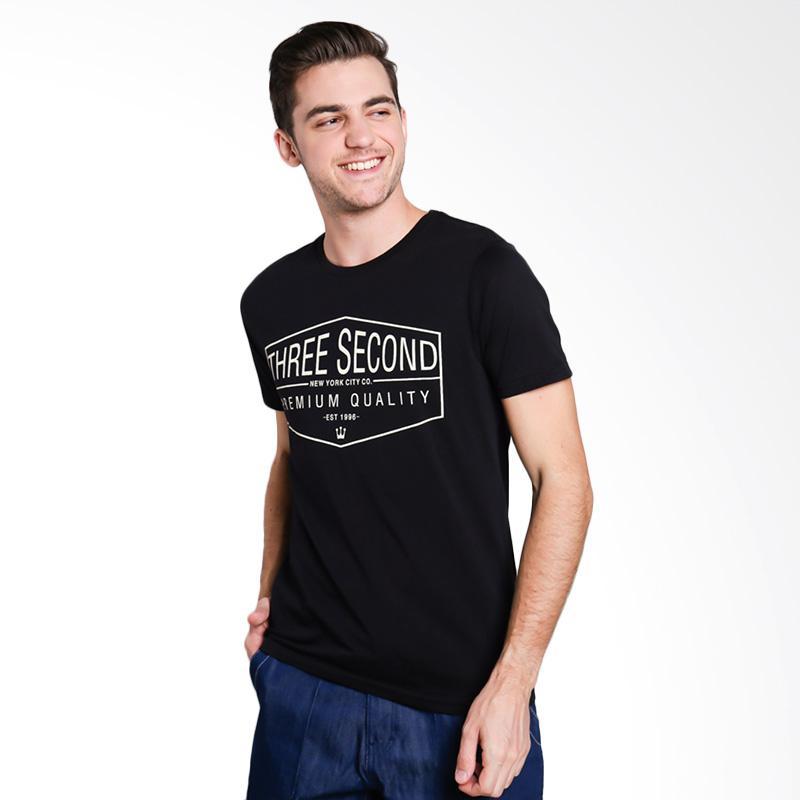 3SECOND 5312 Men Tshirt - Black
