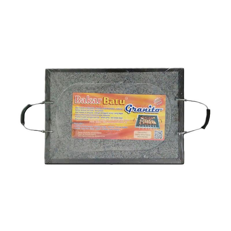 Granito Bakar Batu Alat Pemanggang [30 x 20 cm]