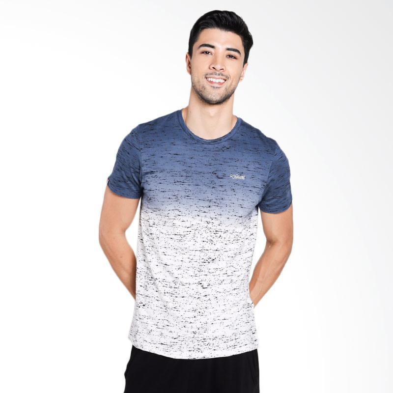 3SECOND Men 1110 T-Shirt Pria - Blue