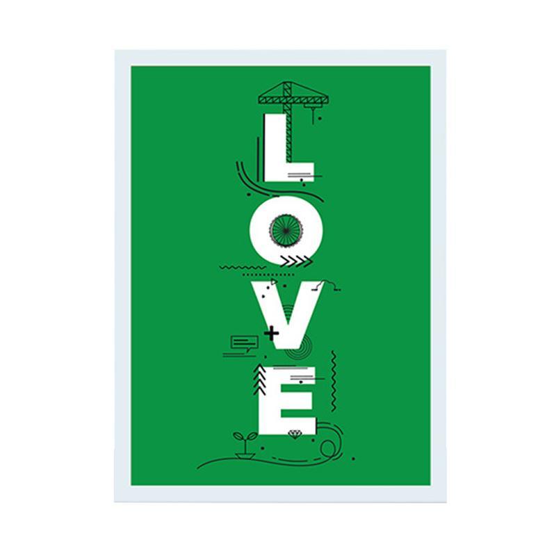 Cadrehome Love A4 Dekorasi Dinding