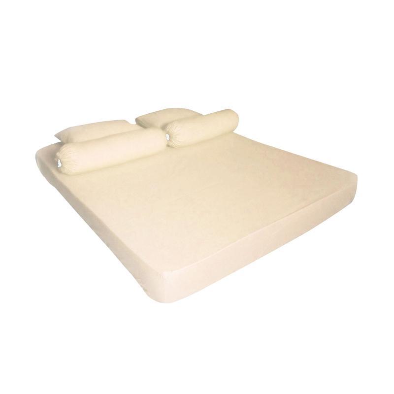 Tren-D-Home Pastel Series Polos Katun Polyester Set Sprei - Cream [180 x 200 x 20 cm]