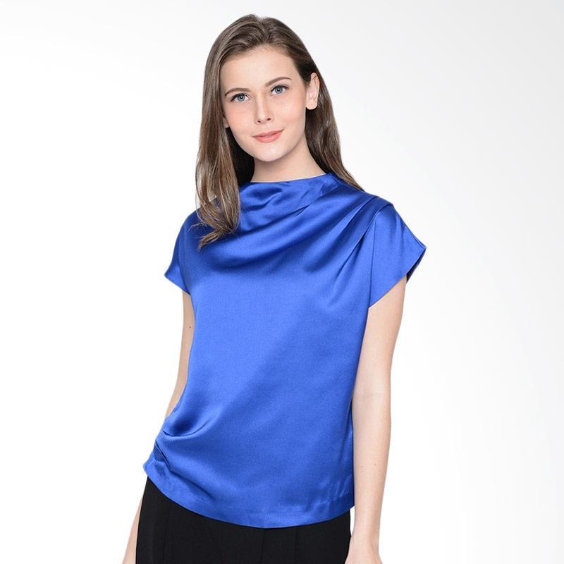A&D Fashion Ms 1002a Ladies Blouse Atasan Wanita - Blue
