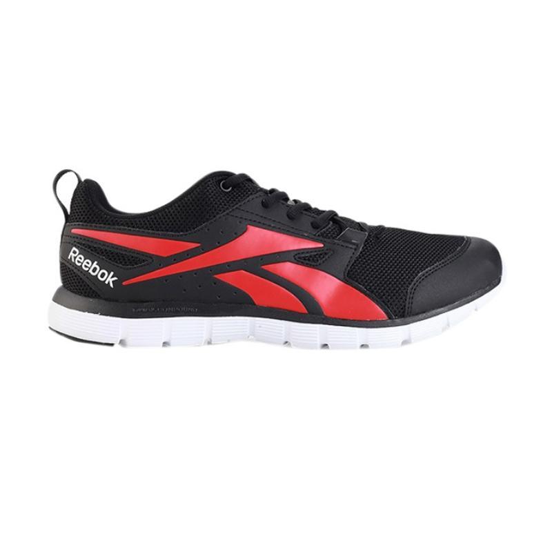 Reebok Hexdual Sepatu Lari Pria - Black Red [CN1574]