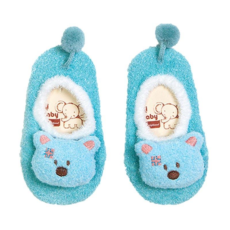 Abby Baby Fleece Socks Kaos Kaki Bayi - Aqua