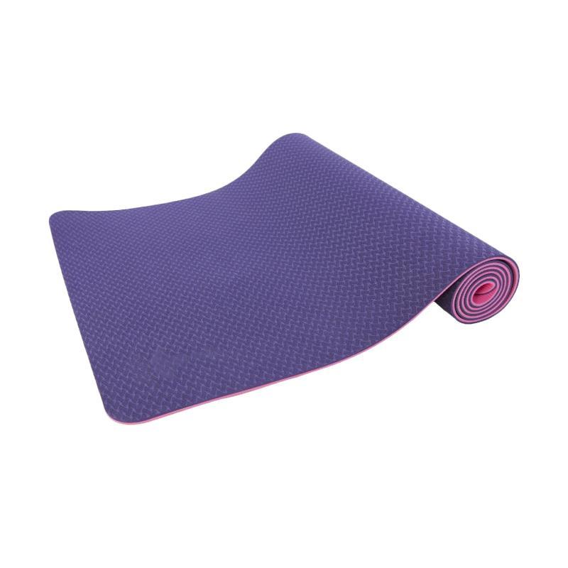 HAPPYFIT TPE Eco Friendly Matras Yoga - Ungu Pink [6 mm]