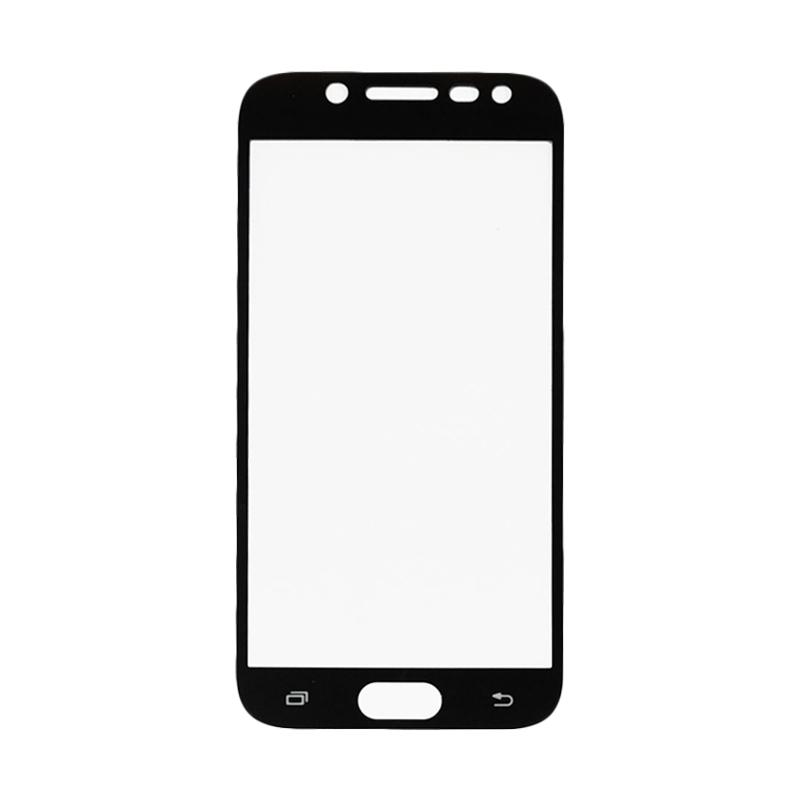QCF Full Tempered Glass Screen Protector for Samsung Galaxy J5 Pro 2017 J530 - Hitam [Front Only]