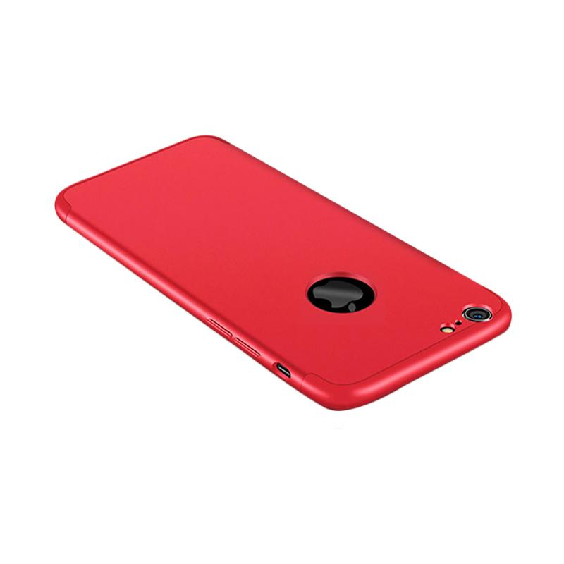 OEM 360 Full Protective 3in1 Hardcase Casing for iPhone 7 - Red + Free Screen Protector