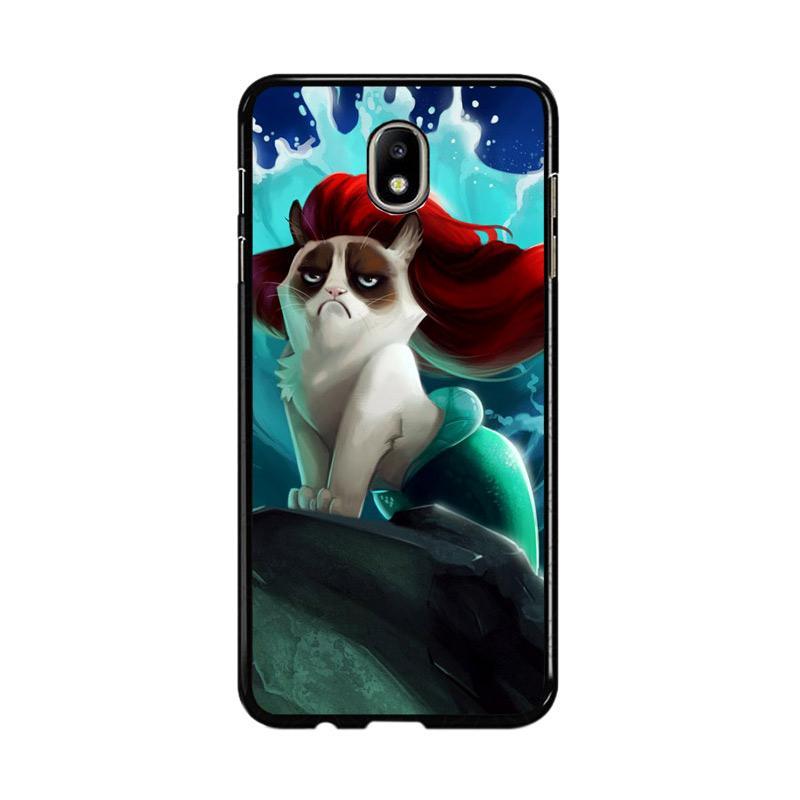 Flazzstore Grumpy Cat And Disney The Little Mermaid Z0023 Custom Casing for Samsung Galaxy J7 Pro 2017